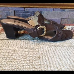Life Stride Shoes - Life Stride Silverado Brown slip on sandals